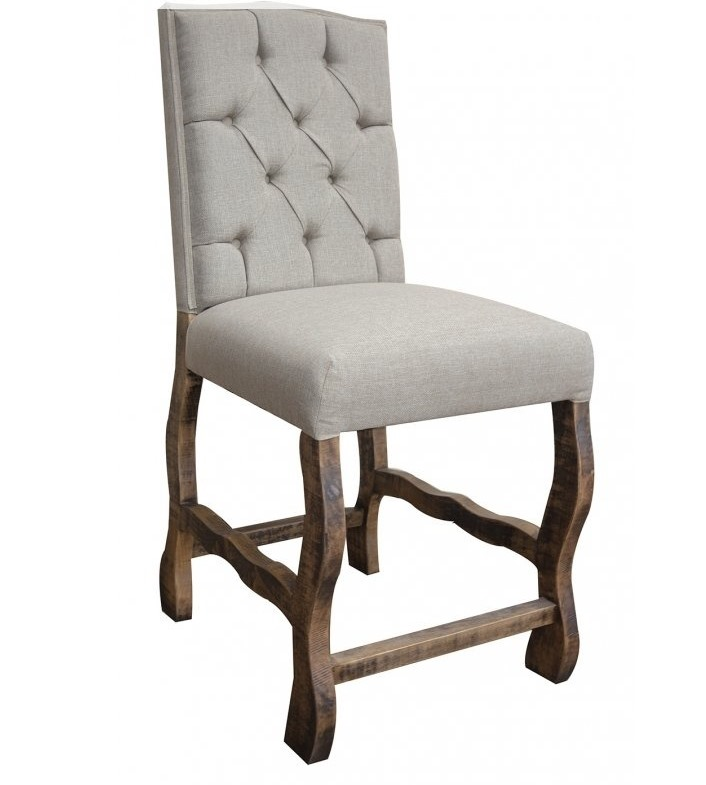 (2) Marquez Rustic Upholstered Bar Stools *Clearance*
