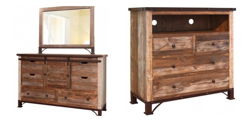Antique Rustic Bedroom Set