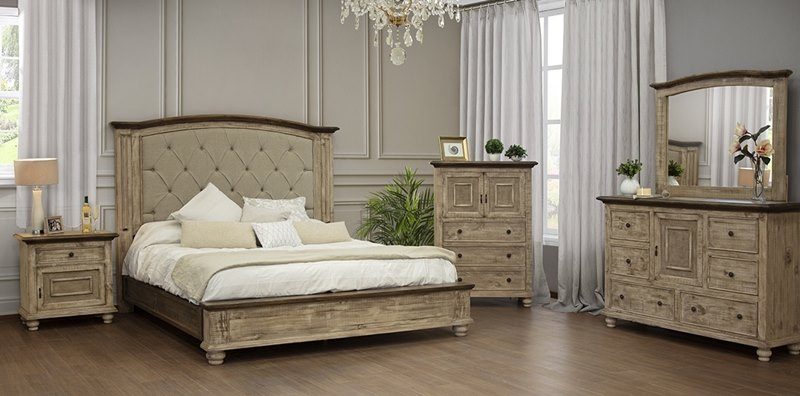 IFD9681 Laguna Modern Farmhouse Rustic Bedroom Set | Free Dallas Area  Delivery