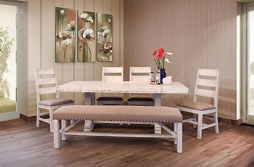 Terra White Rustic Dining Room Set