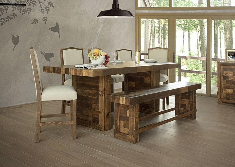 Alamo Rustic Counter Height Dining Room Set