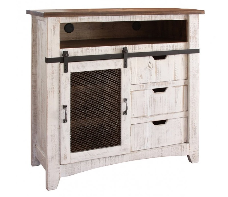 Ifd Furniture 360 Pueblo White Rustic Bedroom Set