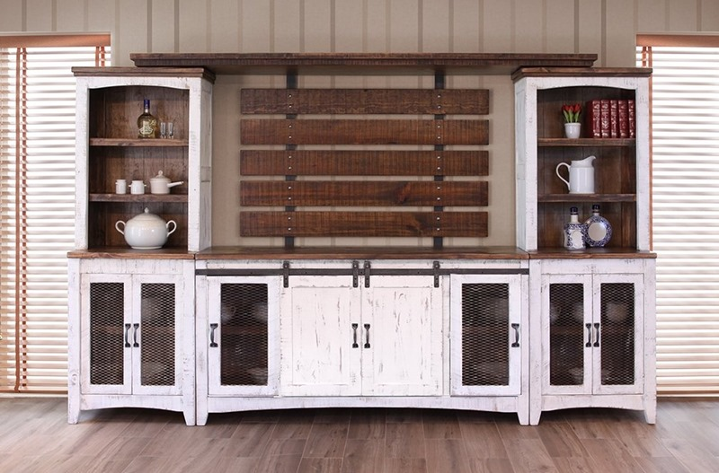 Ifd Furniture 360 Pueblo White Rustic Entertainment