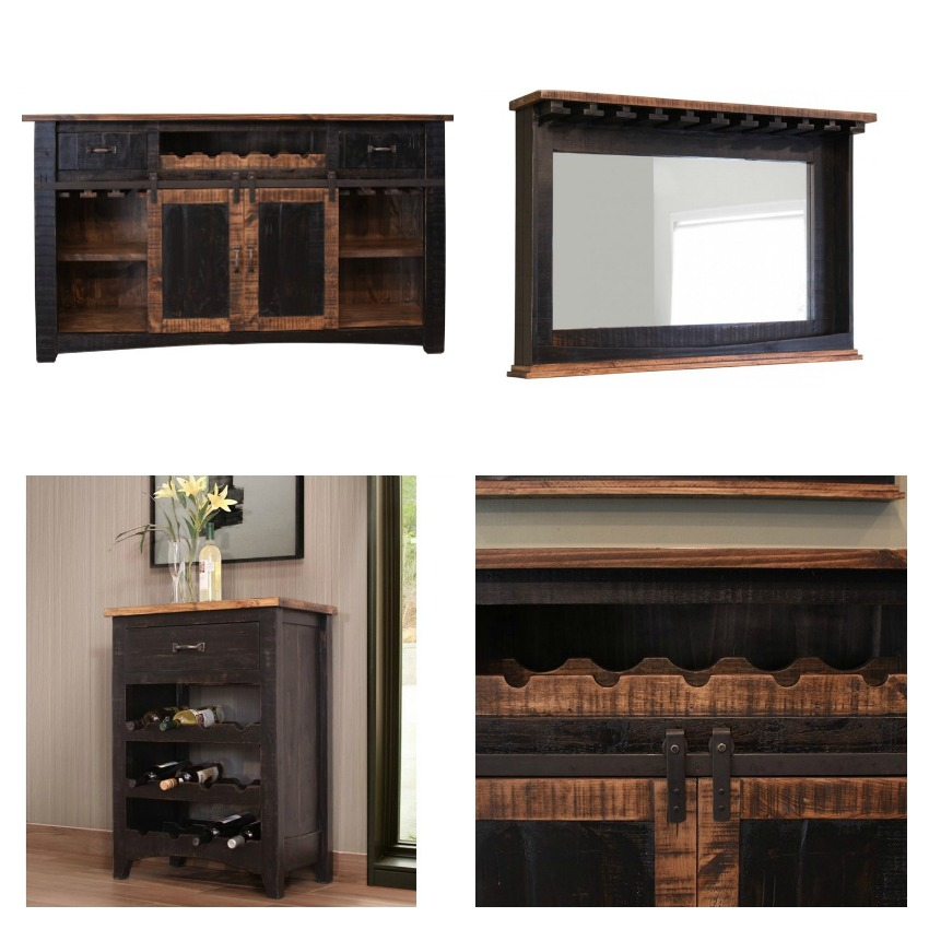 Dfw Furniture Columbus Ohio: 370 Pueblo Black Rustic Bar Set