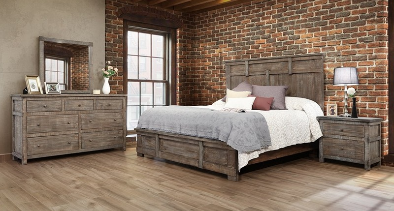 San Angelo Rustic Bedroom Set