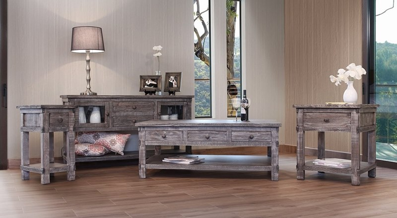 Ifd Furniture 380 San Angelo Rustic Coffee Table Set Dallas