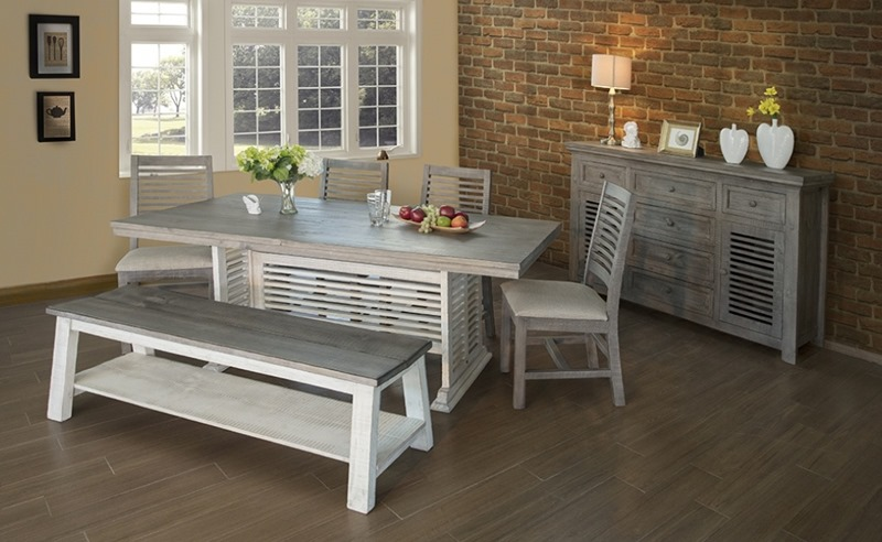 IFD Furniture   469 Stone Rustic Dining Room Set   Dallas Designer Furniture