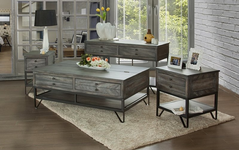 Ifd Furniture 686 Moro Rustic Coffee Table Set Dallas Designer