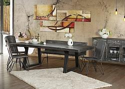 Moro Rustic Dining Room Set with Bench