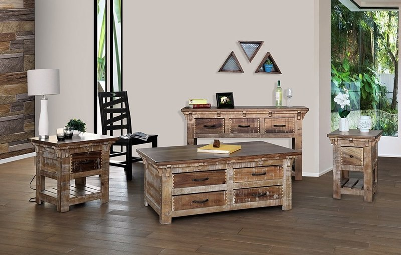 Merveilleux Casablanca Rustic Coffee Table Set ...