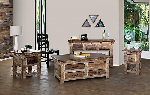 Casablanca Rustic Coffee Table Set