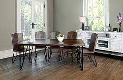 Taos Rustic Dining Room Set with Iron Legs