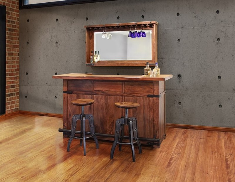 Ifd Furniture 866 Parota Rustic Bar Set With Solid Wood