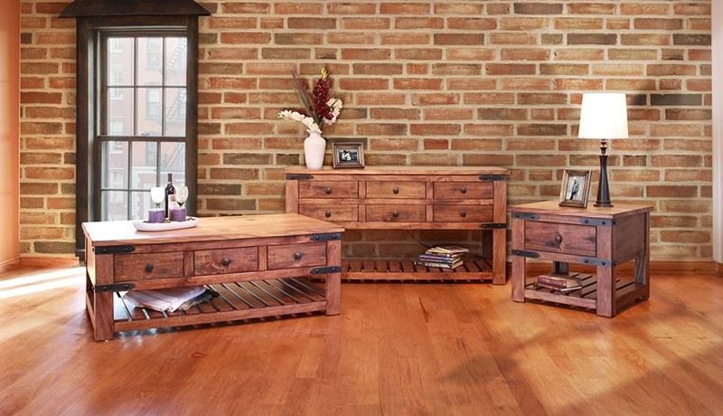 Parota Rustic Coffee Table Set