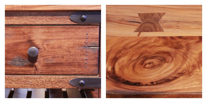 Parota II Rustic Coffee Table Set