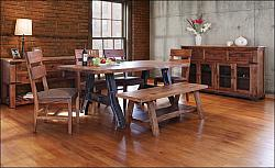 Parota Rustic Dining Room Set with Iron Base