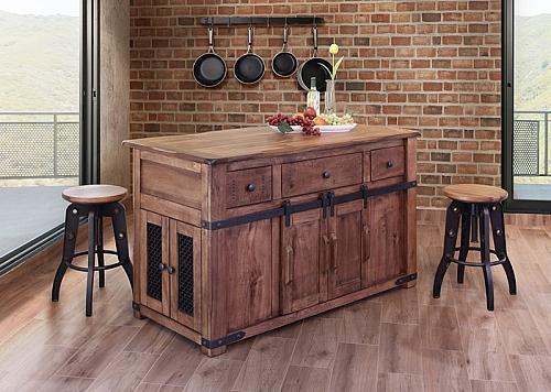 Parota Rustic Kitchen Island