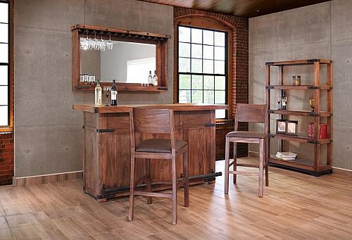 Parota Rustic Bar Set with Engineered Top