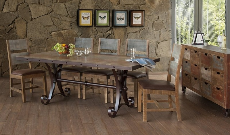 Ifd Furniture 962 Antique Rustic Dining Room Set