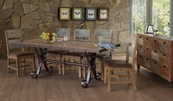 Antique Rustic Dining Room Set