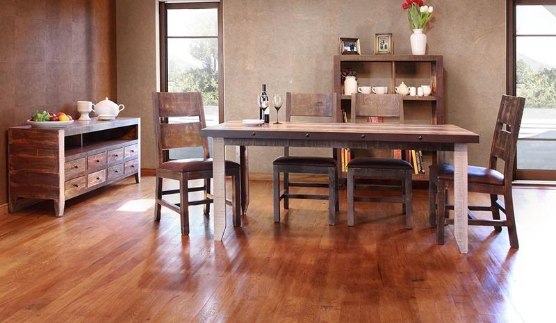 Ifd Furniture 964 Antique Multicolor Rustic Dining Room