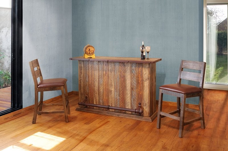 Antique Multicolor Rustic Bar Set
