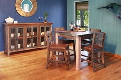 Antique Rustic Counter Height Dining Room Set