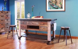 Antique Rustic Kitchen Island