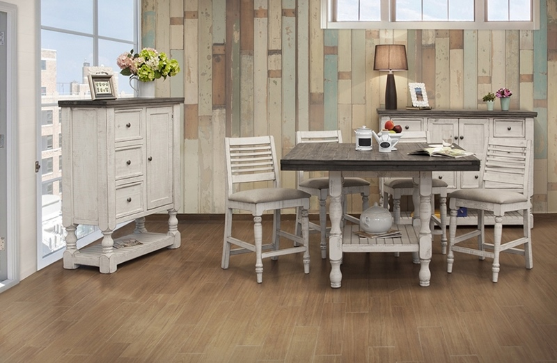 Stone Counter Height Dining Room Set