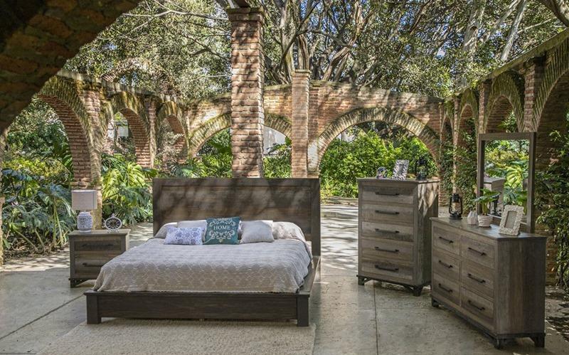 Loft Brown Bedroom Set