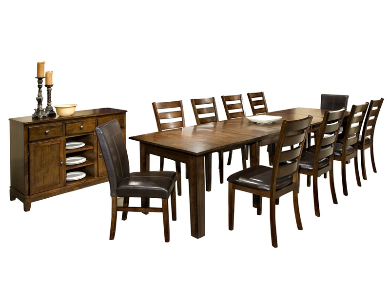 "Kona Ultra 130"" Dining Table Set in Raisin Finish"