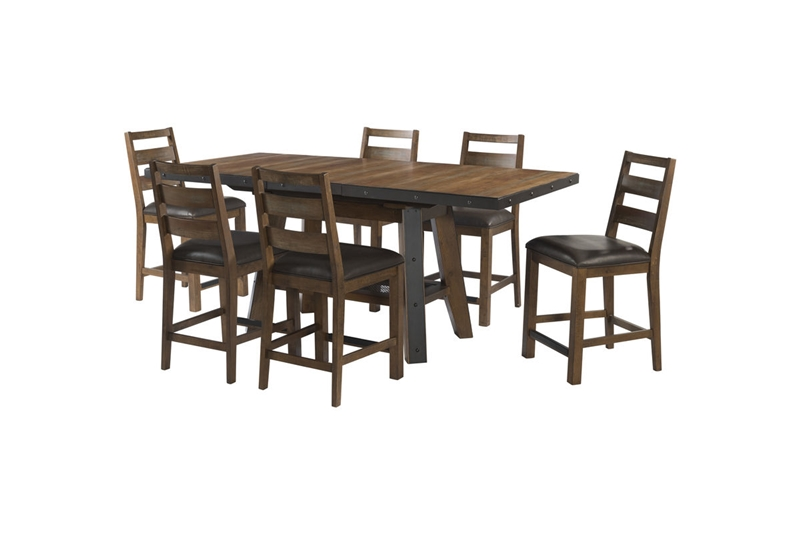 Taos Canyon Brown Counter Height Dining Room Set