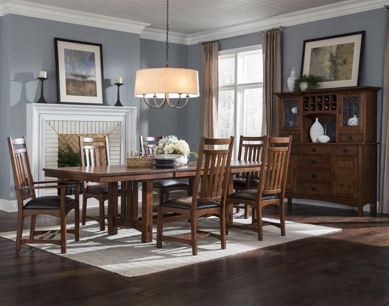 Mission Style Oak Park Dining Room Set