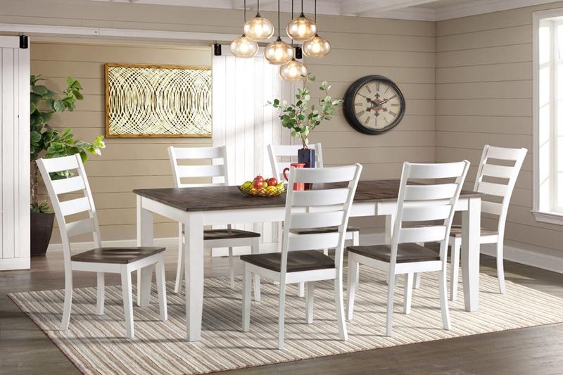 Kona Gray White Dining Room Set