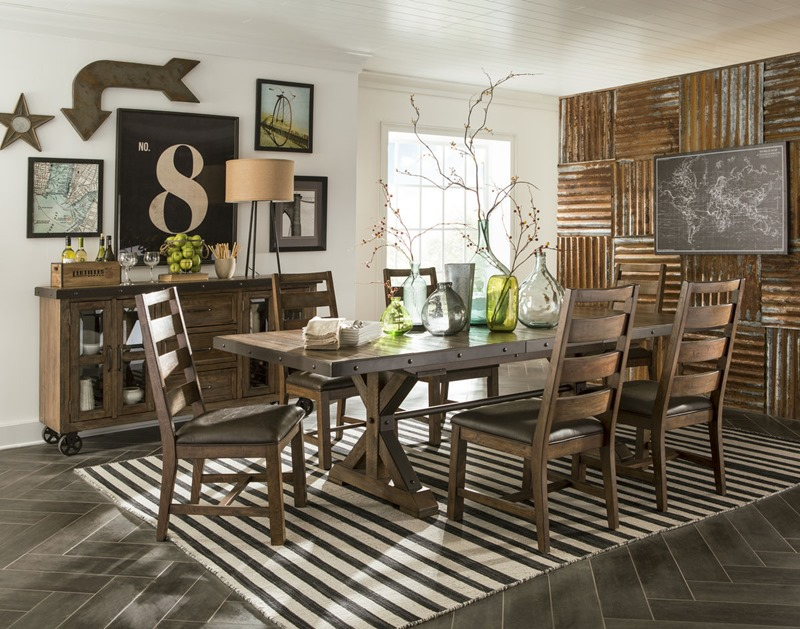 Taos Canyon Brown Dining Room Set