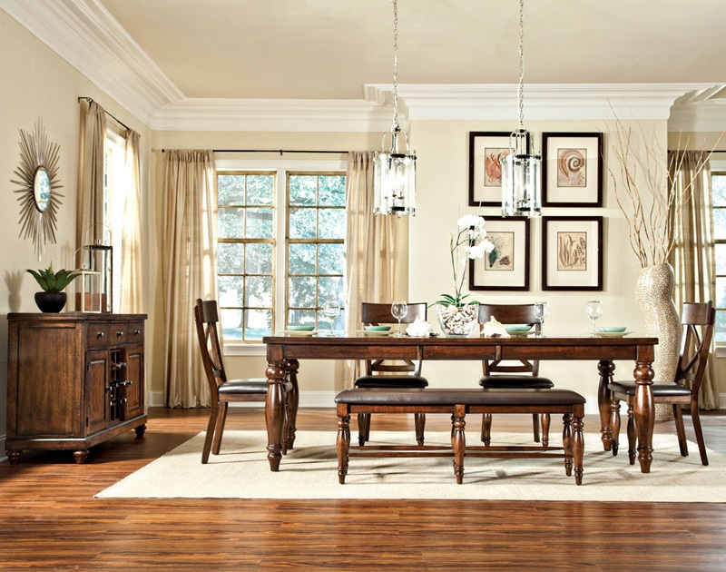 Kingston Dining Room Set with Bench