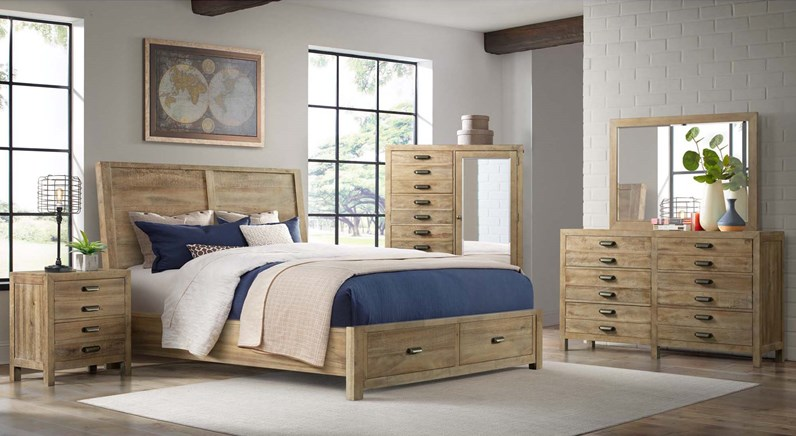 Edison Bedroom Set with Storage Bed