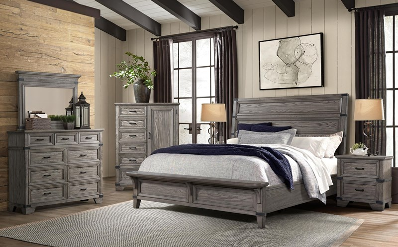 Forge Bedroom Set in Gray