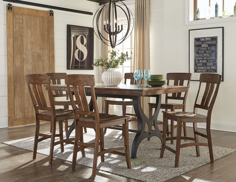 The District Counter Height Dining Room Set