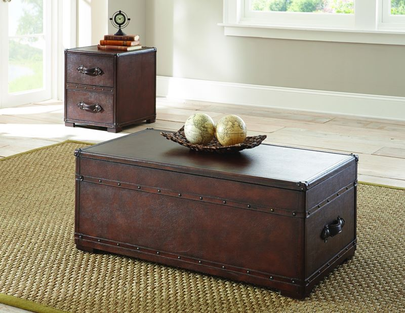 Jayden Trunk Coffee Table Set ...