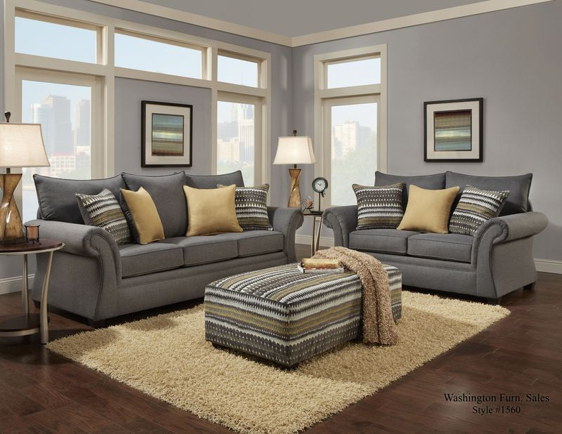 Jitterbug Living Room Set in Gray