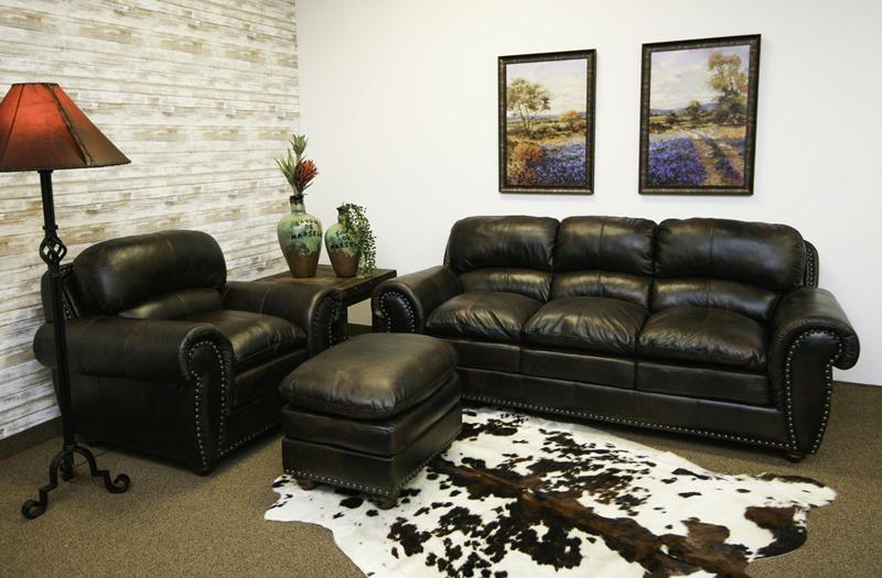 Aspen Leather Living Room Set