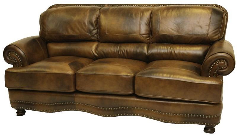 Cowboy Leather Living Room Set