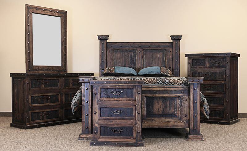 Finca Rustic Bedroom Set