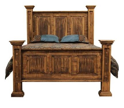 Rough Cut Pine Rustic Queen Bed *Clearance*