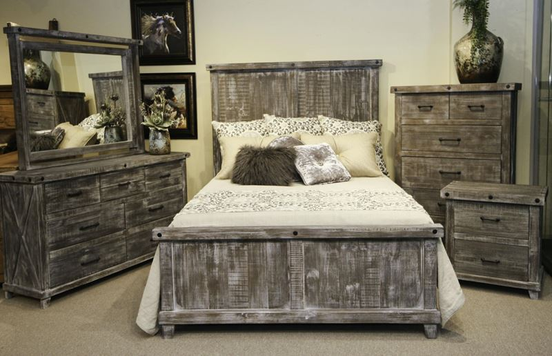 Stone Creek Industrial Rustic Bedroom Set