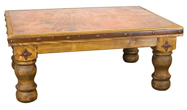 Rustic Copper Coffee Table Set
