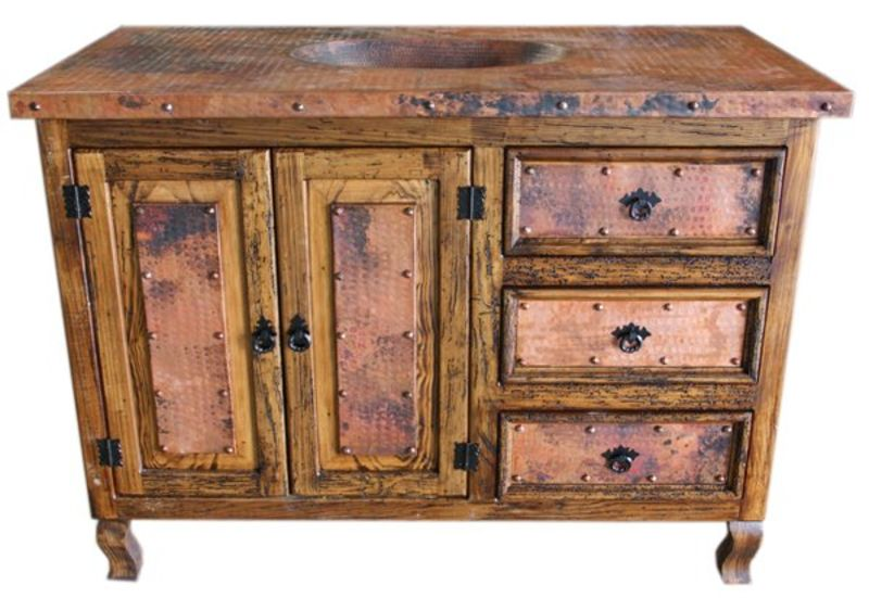 Copper Top Rustic Vanity