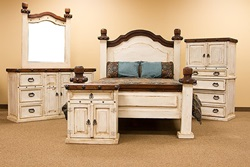 Don Carlos White Wash Bedroom Set