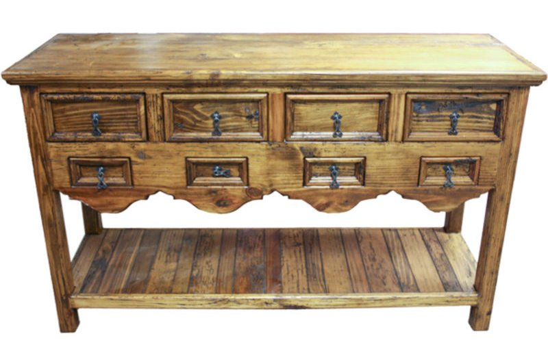 Old Wood Rustic Console Table